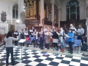 St Sepulchre's rehearsal
